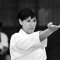 Ilze van der Merwe is a 4th Dan black belt Sensei and head instructor of two dojos in Cape Town. She has been actively practising martial arts for 28 years and teaching for 20 years.