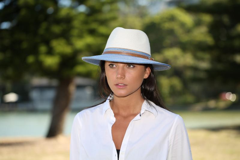 Emthunzini Hats Bella Ivory Blue