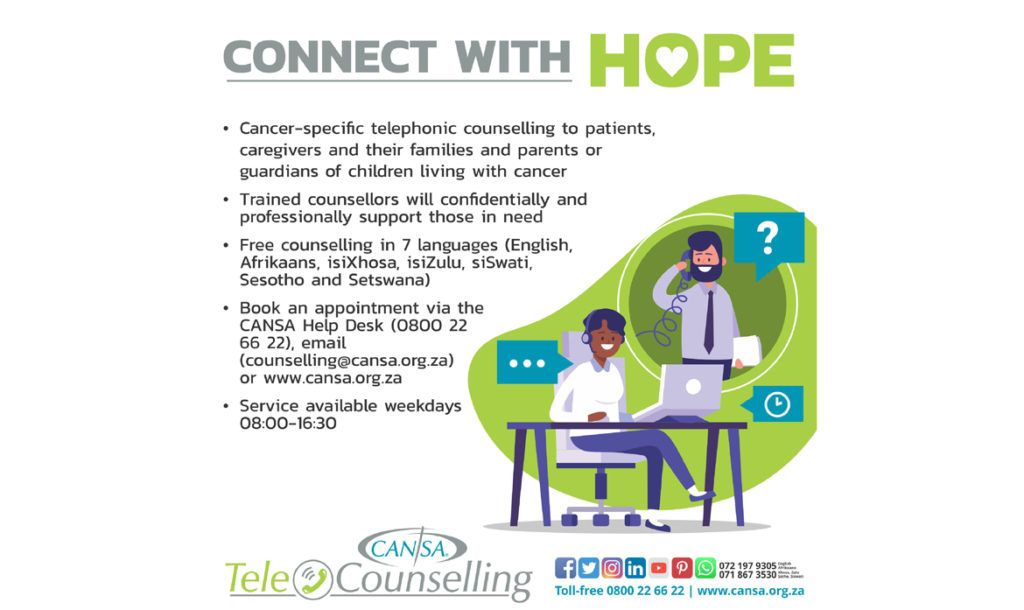 CANSA Tele Counselling Connect with Hope